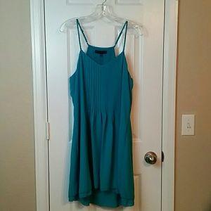 Sanctuary Blue Pleated Midi Spring Fling Dress